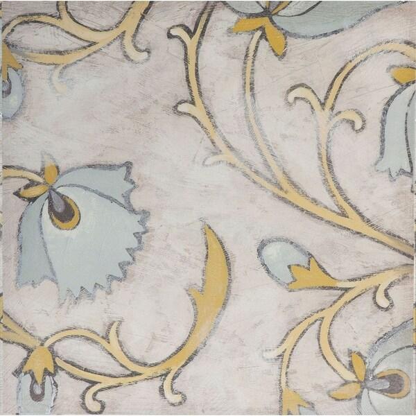 Mercana Spa Floral Fresco I ( 30 x 30 ) Made to Order Canvas Art
