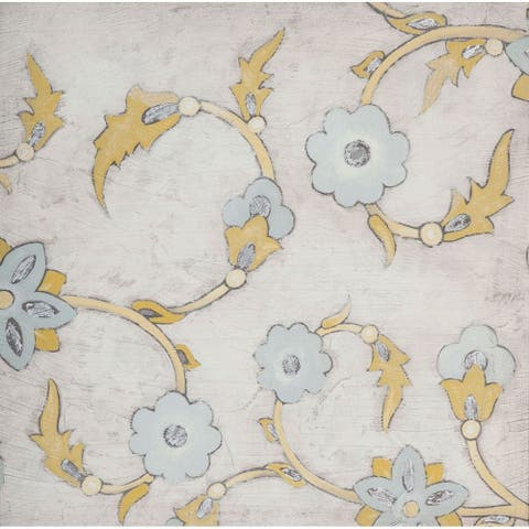 Mercana Spa Floral Fresco III (44 X 44) Made to Order Canvas Art