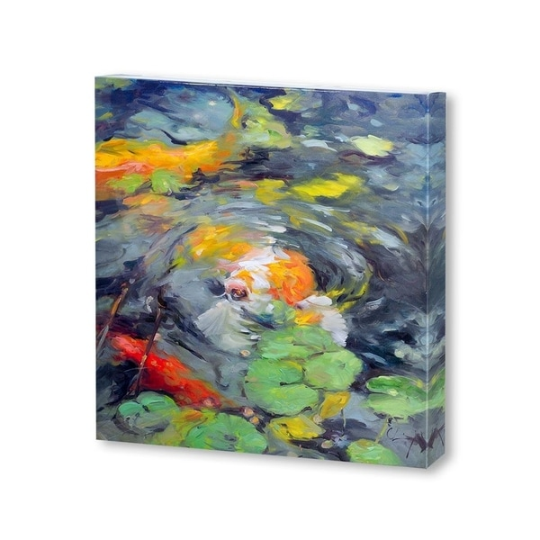 Mercana Golden Koi(30 X 30) Made to Order Canvas Art
