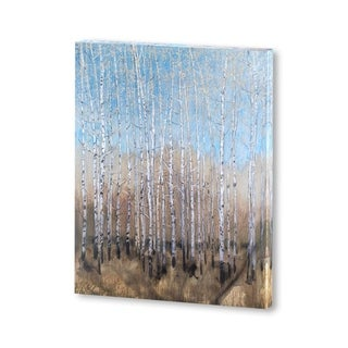 Mercana Dusty Blue Birches I(30 X 38) Made to Order Canvas Art