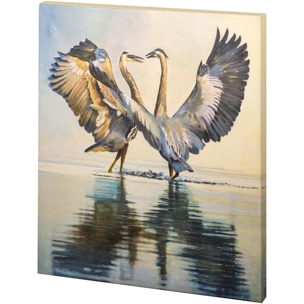 Mercana Great Blue Herons (41 x 46) Made to Order Canvas Art