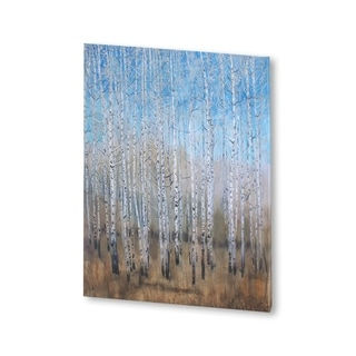 Mercana Dusty Blue Birches II(30 X 38) Made to Order Canvas Art
