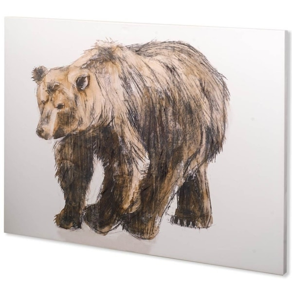 Mercana Brown Bear 1 (44 x 30) Made to Order Canvas Art