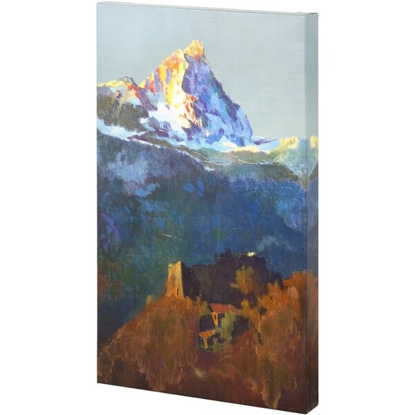 Mercana Campers At Valle de Aosta (26 x 41) Made to Order Canvas Art