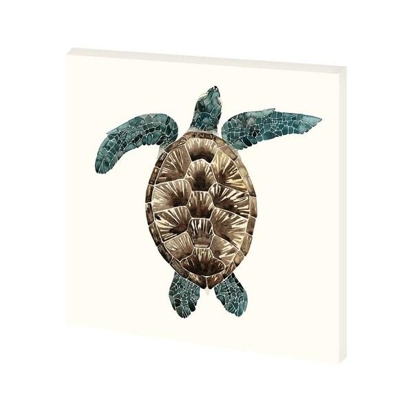 Mercana Mosaic Turtle II (30 x 30) Made to Order Canvas Art
