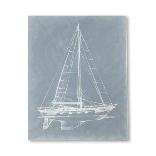 Mercana Yacht Sketches II (MC) (30 X 38) Made to Order Canvas Art