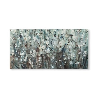 Mercana White Blooms with Navy II(MC)(44x22) Made to Order Canvas Art