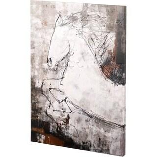 Mercana Contour Horse I (42 x 56) Made to Order Canvas Art