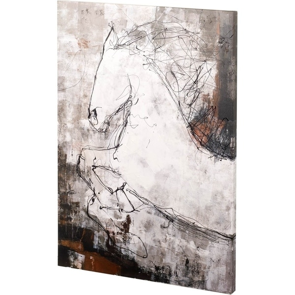 Mercana Contour Horse I (42 x 56) Made to Order Canvas Art