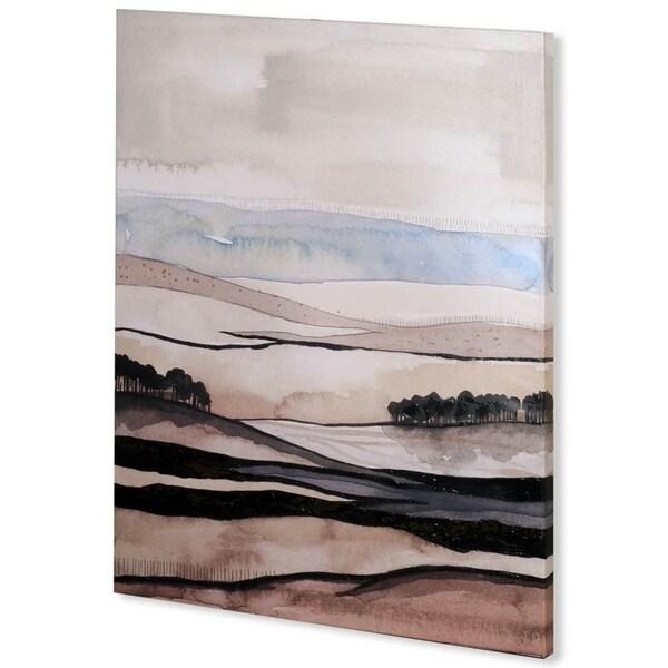 Mercana Watercolor Strata II (41 x 54) Made to Order Canvas Art