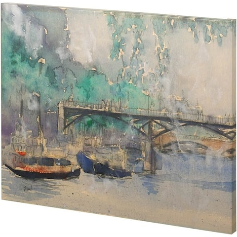 Mercana Venice Watercolors V (30 x 22) Made to Order Canvas Art - Multi
