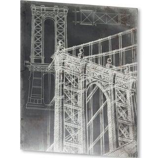 Mercana Iconic Blueprint I (40 X 51) Made to Order Canvas Art