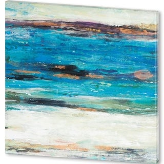 Mercana Sea Breeze Abstract II (44 X 44) Made to Order Canvas Art