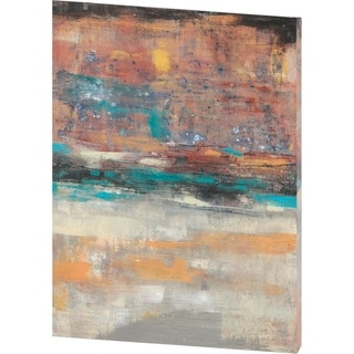 Mercana Teal Sunset II (40 X 54) Made to Order Canvas Art