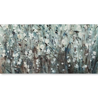 Mercana White Blooms with Navy II(MC)(54x27) Made to Order Canvas Art