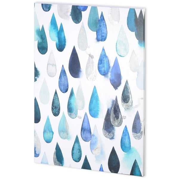 Mercana Water Drops II (44 x 58) Made to Order Canvas Art