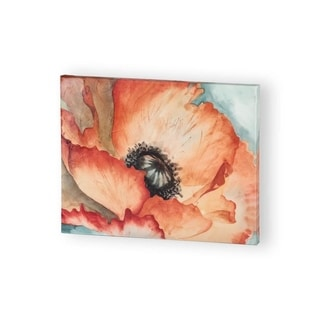 Mercana Water Color Poppy 2 ( 30 x 24 ) Made to Order Canvas Art
