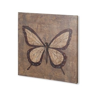Mercana Textured Butterfly II (30 x 30) Made to Order Canvas Art