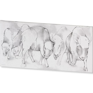 Mercana Bison Charge (60 X 30) Made to Order Canvas Art