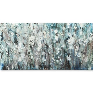 Mercana White Blooms with Navy I (MC)(54X27) Made to Order Canvas Art