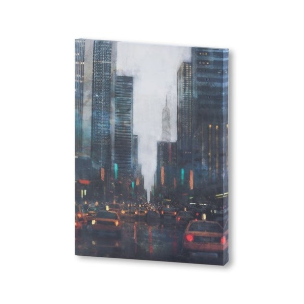 Mercana New York After Hours (27 X 38) Made to Order Canvas Art