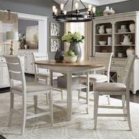 Farmhouse Reimagined Antique White 5-piece Gathering Table Set