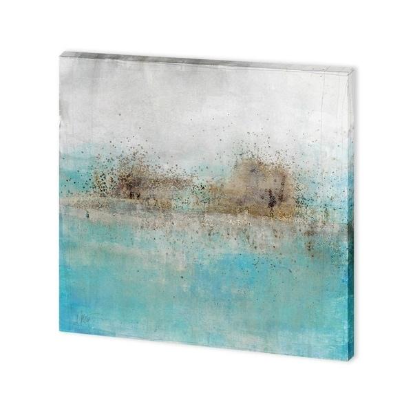 Mercana Granulated Aquamarine (30 x 30) Made to Order Canvas Art