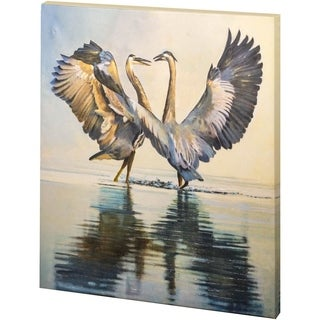 Mercana Great Blue Herons (30 x 34) Made to Order Canvas Art