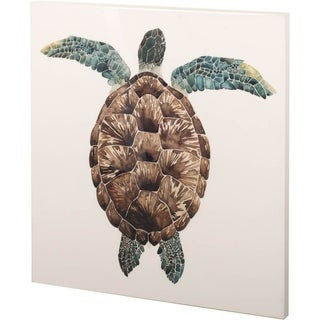 Mercana Mosaic Turtle I (30 x 30) Made to Order Canvas Art
