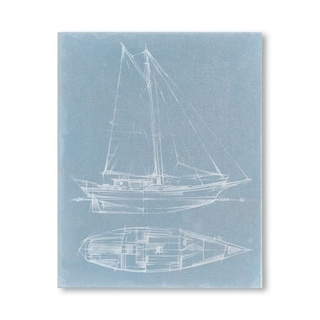 Mercana Yacht Sketches III (MC) (30 X 38) Made to Order Canvas Art