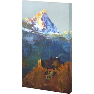 Mercana Campers At Valle de Aosta (33 x 50) Made to Order Canvas Art