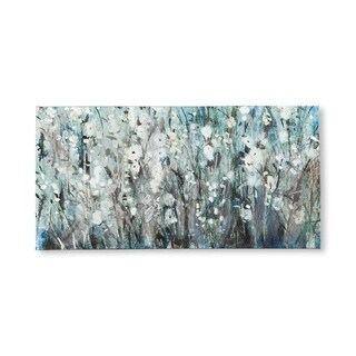 Mercana White Blooms with Navy I (MC)(44X22) Made to Order Canvas Art