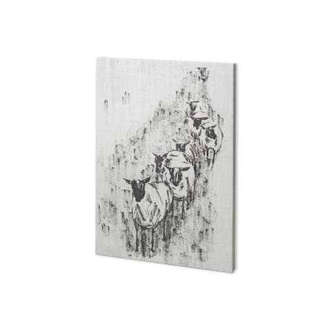 Mercana Sheep on the Way II (27 x 38) Made to Order Canvas Art