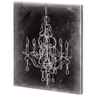 Mercana Chalkboard Chandelier Sketch IV (44 x 55)  Made to Order Canvas Art