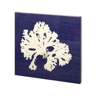 Mercana Seaweed on Navy IV (30 x 30) Made to Order Canvas Art