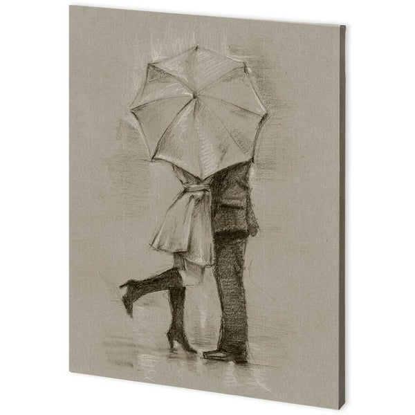 Mercana Rainy Day Rendevous III (44 x 58) Made to Order Canvas Art