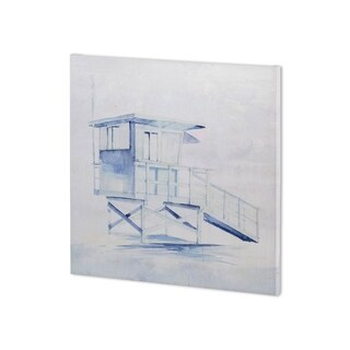 Mercana On Beach III (30 x 30 ) Made to Order Canvas Art