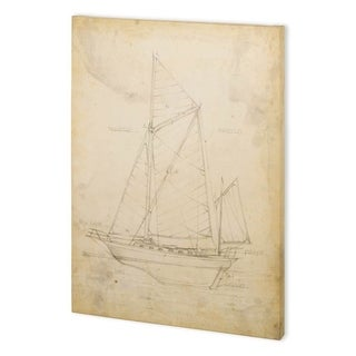 Mercana Sailboat Blueprint V (44 x 58) Made to Order Canvas Art