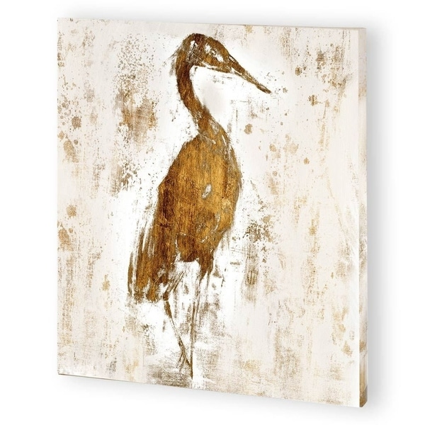 Mercana Gilded Heron I (44 x 44) Made to Order Canvas Art