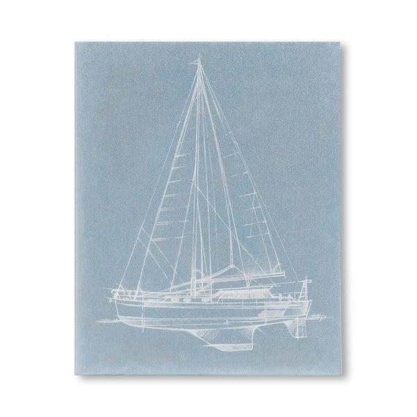 Mercana Yacht Sketches I (MC) (30 X 38) Made to Order Canvas Art