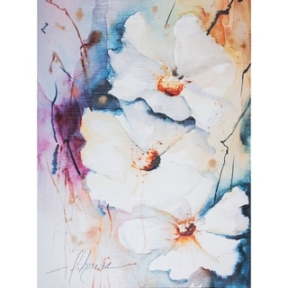 Mercana Blooms Aquas I (39 x 52) Made to Order Canvas Art