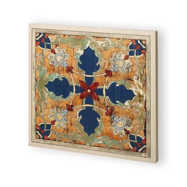 Mercana Vintage Woodblock V (30 x 30) Made to Order Canvas Art
