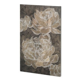 Mercana Weaved Peony II (36 x 54) Made to Order Canvas Art