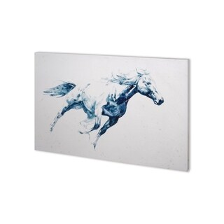 Mercana Sapphire Gallop I (38 x 26) Made to Order Canvas Art