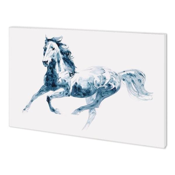 Mercana Sapphire Gallop II (58 x 38) Made to Order Canvas Art
