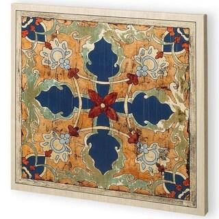 Mercana Vintage Woodblock V (44 x 44) Made to Order Canvas Art