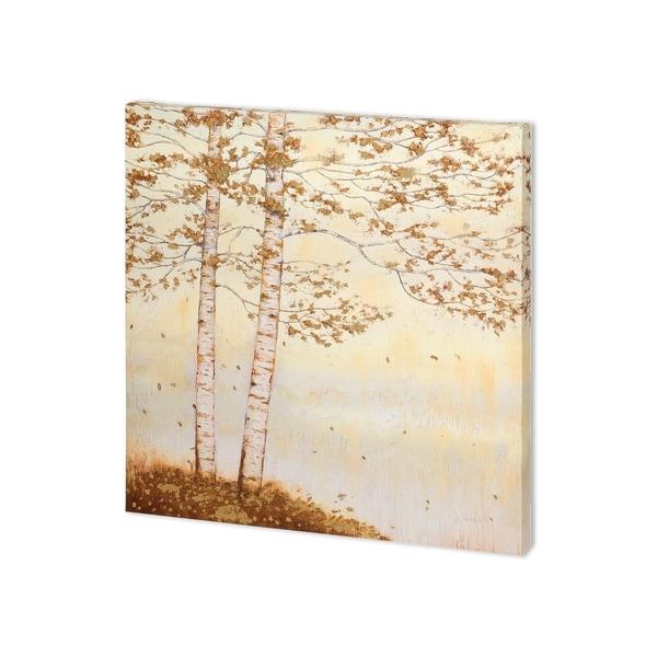 Mercana Golden Birch I Off White (30 x 30 ) Made to Order Canvas Art