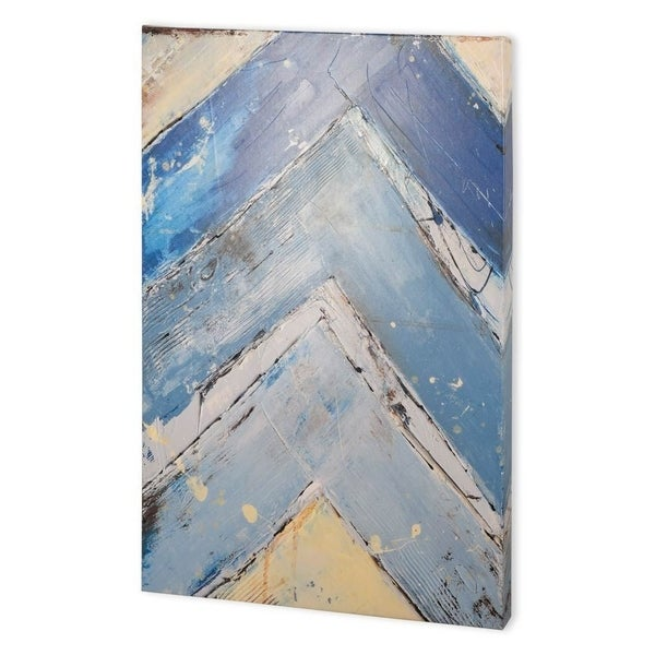 Mercana Blue Zag I (41 x 55) Made to Order Canvas Art