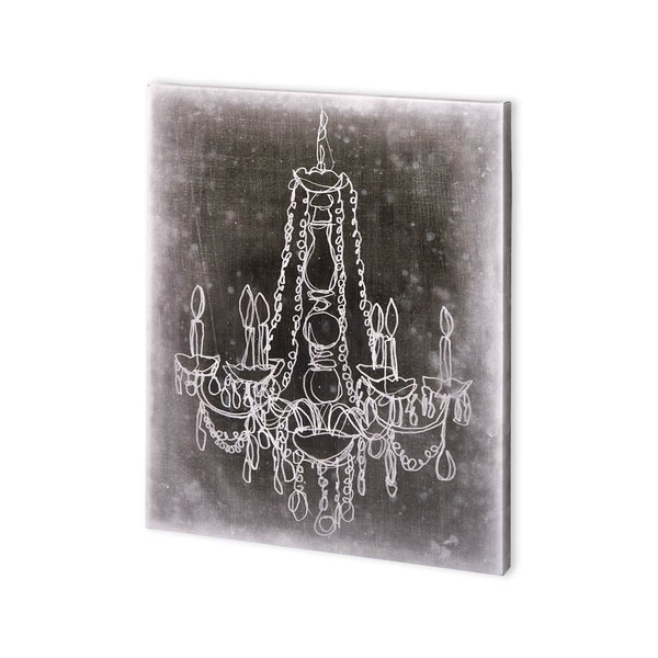 Mercana Chalkboard Chandelier Sketch I (30 x 37) Made to Order Canvas Art