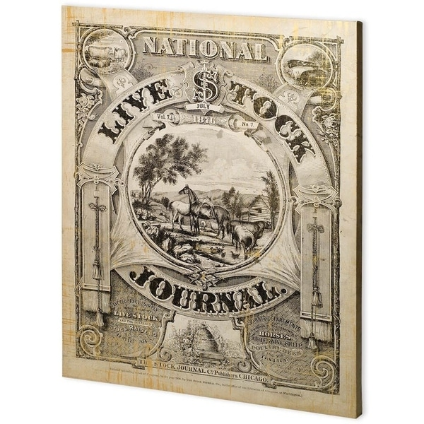 Mercana National Live Stock Journal (55 x 44) Made to Order Canvas Art